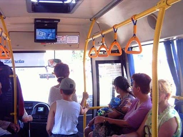 Видеоролик прижимание в транспорте