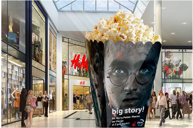 """Кампания """"Big Story"""", большой попкорн"""
