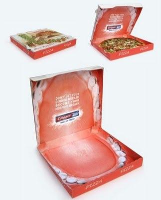 Реклама на упаковке для пиццы