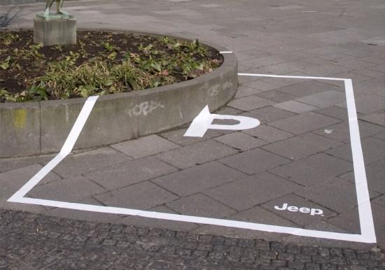 партизанский маркетинг компании Jeep