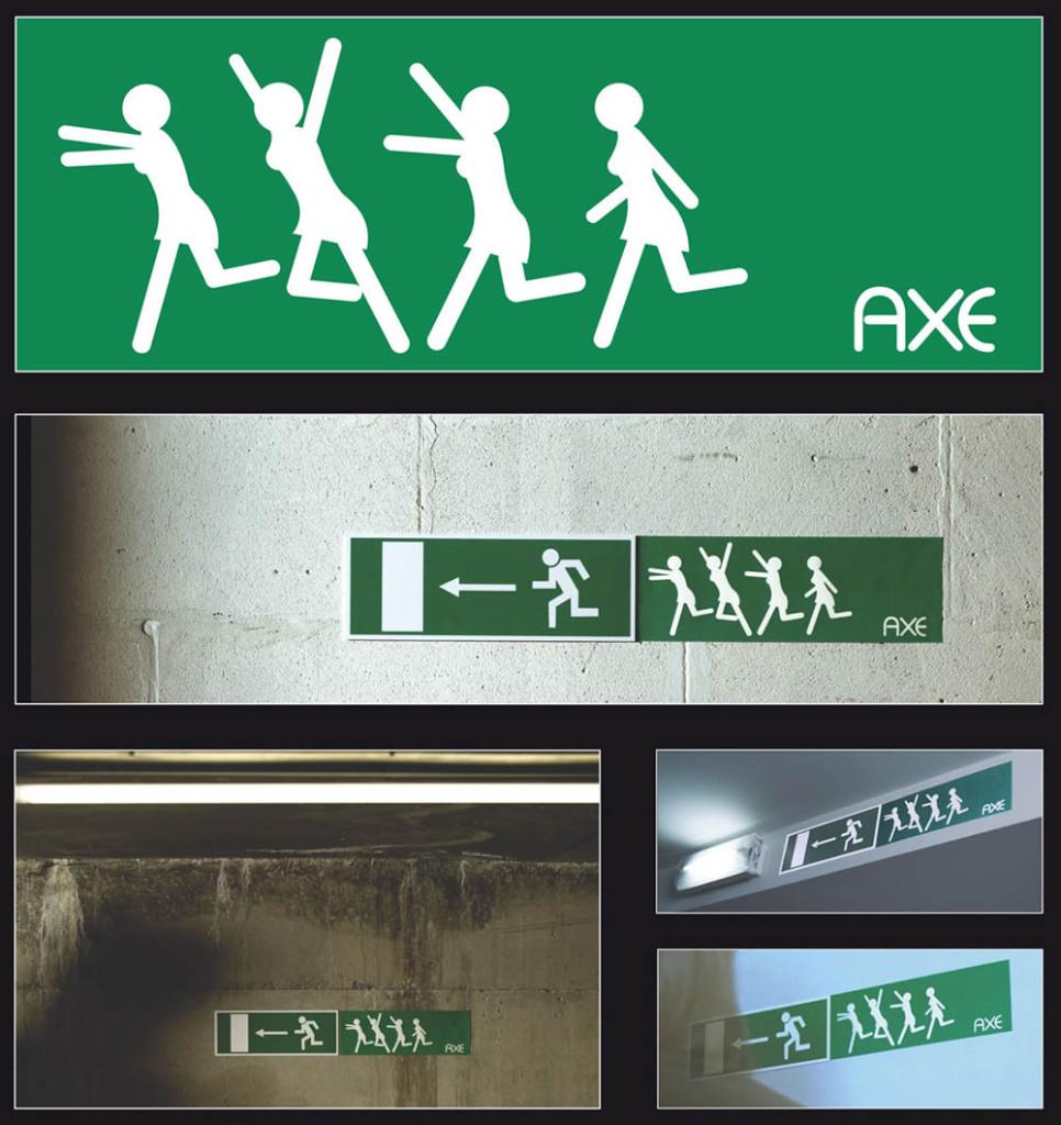партизанская реклама axe
