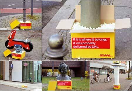 Партизанская реклама DHL