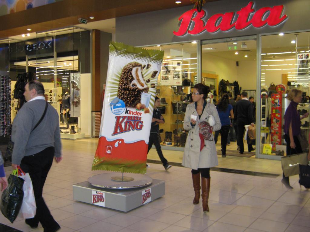 Реклама в торговом центре