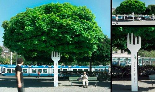 деревья с вилкой