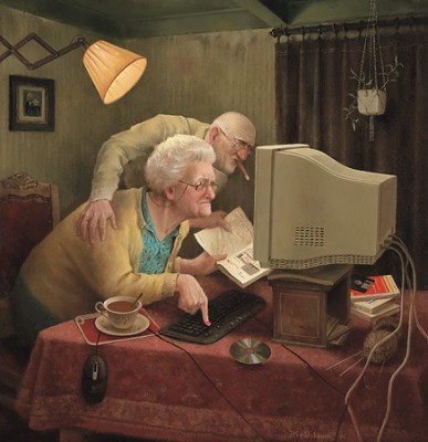 старики за компьютером