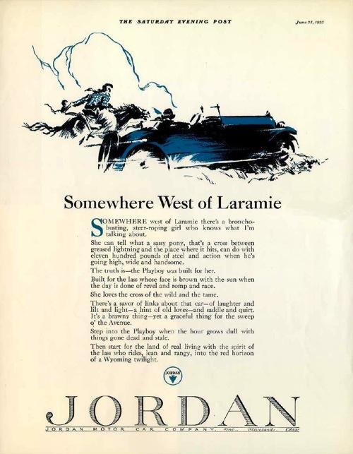Jordan Motor Car Company 1923